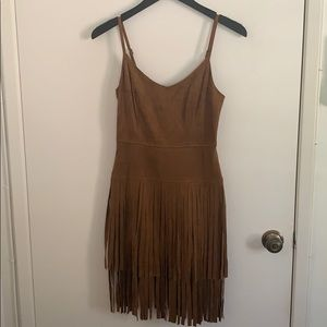 Guess Fringe Suede Dress in Size S